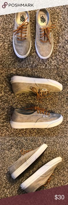 Authentic Textured Canvas Vans Only worn a handful of times. Shoes come with leather cord laces. W 6.5, M 5.0 Vans Shoes Sneakers