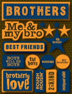 3D Brothers Quotes Stickers