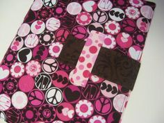 Peace and Love iPad case stand fabric cover by SewingAmity for $45.00