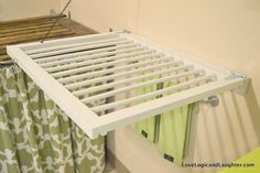A fold-away wall drying rack made from a baby/dog gate. Spray painted white and repurposed/upcycled as a drying rack! Decor, Repurposed Furniture, Old Cribs, Laundry Mud Room, Diy Wall, Baby Room Organization, Cribs Repurpose, Laundry Room Design, Wall Drying Rack