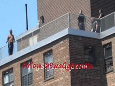 a man tries to commit suicide off of a 20 story building , this is Part 2 of man on a ledge caught on tape