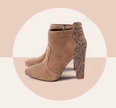 Chic Secrets... Mariamare low boots @giannakazakou Low Boots, Heeled Mules, Peep Toe, Fall Winter, Booty, Chic, Heels, Fashion, Shabby Chic
