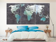 World map canvas World map decor Large world map Travel art Push pin map canvas Extra large wall art Travel poster Push pin canvas World map Travel Wall Decor, Wall Art Decor, Canvas Art Quotes, Canvas Art Prints, World Map Decor, Kids World Map, Gaming Wall Art, African Art Paintings, Easy Canvas Art