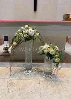 부활 제5주일 : 네이버 블로그 Church Flower Arrangements, Church Flowers, Floral Arrangements, Cascade Bouquet, Arte Floral, Blessed Mother, Ikebana, Diy And Crafts, Glass Vase