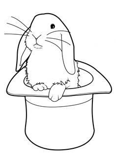 Coloriage Lapin 2