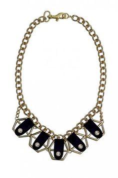 Necklace Accalia Black Carnet de Mode