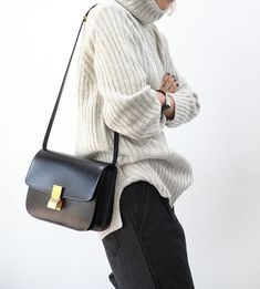 Oversized Knit, Celine Bag | TheyAllHateUs fisherman rib