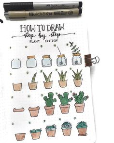 Doodle ideas to try in your bullet journal. Have fun decorating your bujo (bullet journal) with these creative doodle ideas.