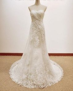 Fantastic/Romatic lace wedding dress with by Weddingbridal on Etsy, $186.00 http://www.etsy.com/listing/165470200/fantasticromatic-lace-wedding-dress-with?ref=related-4