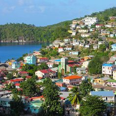 Colourful town of Canaries in St Lucia Cruise Tips Royal Caribbean, Caribbean Vacations, Beautiful Islands, Beautiful Places, Amazing Places, Simply Beautiful, Castries St Lucia, St Vincent Grenadines, Caribbean Culture