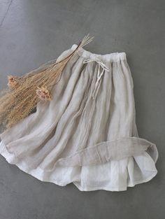 B/B 이중겹 거즈린넨 스커트(재입고) Linen Skirt, Linen Dresses, Cotton Dresses, Skirt Fashion, Fashion Outfits, Fashion Tips, Fashion Design, Retro Fashion, Vintage Fashion