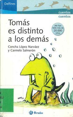 Tomás es distinto a los demás de Concha López Narváez y Carmelo Salmerón; ilustraciones de Rafael Salmerón. Publicado por Bruño, 2005.
