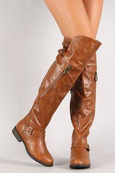 a86dd7f3cc4 Chestnut Side Zipper Thigh High Boot