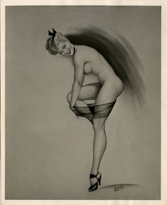 Illustration by Cardwell Higgins, 1946 1940s Pinup, Pin Up Illustration, Illustrations, Retro Pin Up, Retro Girls, Rockabilly Pin Up, Pin Up Art, Pin Up Style, Erotic Art