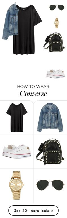 """""""Untitled #555"""" by mitzi9 on Polyvore featuring H&M, Valentino, MICHAEL Michael Kors, Balenciaga, Converse and Ray-Ban"""