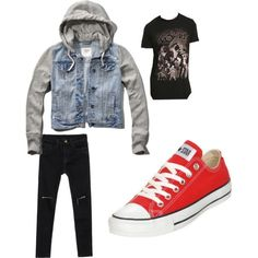 DW ff Master outfit by ryebehrens on Polyvore featuring polyvore fashion style Abercrombie & Fitch Converse