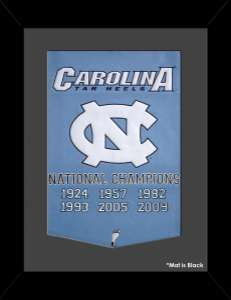 Framed University of North Carolina - Tar Heels - National Champions Dynasty Banner