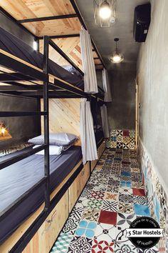 Amazing vintage design at Memory Hostel dorms