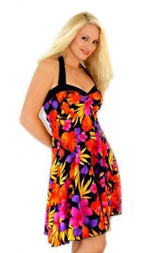 Dress Sale Today! Ladies Stretch Jersey Hawaiian Print Halter Dress $69.99 http://www.jackiesboutique.com/Ladies-Stretch-Jersey-Hawaiian-Halter/dp/B00IC7CQ64 #sundress #dress #clothing #style #fashion