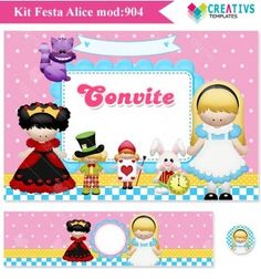 Festa Alice no País das Maravilhas mod:904 Printable Party - Alice in Wonderland