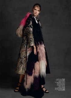 Nikola by David Roemer for Marie Claire UK December 2015 - Valentino