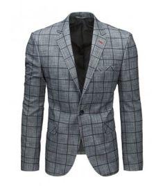Antracitové pánske sako Suit Jacket, Breast, Blazer, Suits, Jackets, Fashion, Down Jackets, Moda, Fashion Styles