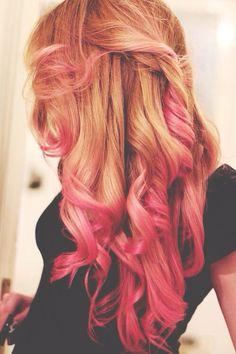 Pink highlights