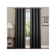 Sun Zero Hanson Room Darkening Curtain, Grey