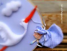 : Porta de maternidade - tema cegonha