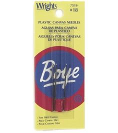 Plastic Canvas Needles Size