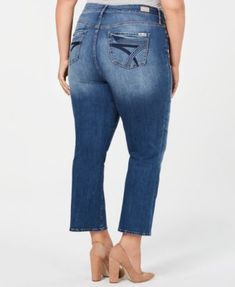 d7701dd022337 Seven7 Jeans Trendy Plus Size Cropped Flare-Leg Jeans - Blue 14W Flare Leg  Jeans