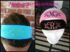 Monogram Headbands.  Great gift and perfect stocking stuffer for the teen or tween in your life.  www.facebook.com/pages/Sassy-Decor-and-More-LLC/365352106761