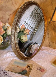 Reflections in a vintage dressing table mirror
