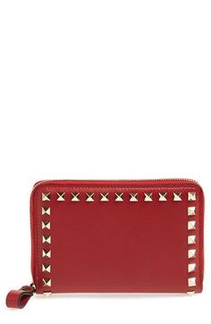 Valentino+'Rockstud'+French+Wallet+available+at+#Nordstrom