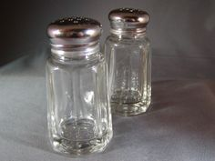 Vintage Salt and Pepper Shakers Classic Glass and by RosaInGlousta, $14.99