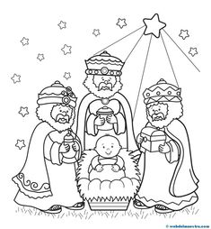 Three Wise Men Coloring Page – Free Christmas Recipes, Coloring Pages for Kids & Santa Letters – Free-N-Fun Christmas Make your world more colorful with free printable coloring pages from italks. Our free coloring pages for adults and kids. Nativity Coloring Pages, Bible Coloring Pages, Coloring Books, Preschool Christmas, Christmas Nativity, Kids Christmas, Christmas Recipes, Christmas Printables, Christmas Pictures