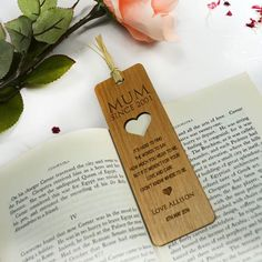 Make your mark with our laser cut wooden keepsake bookmarks! A beautiful gift for a Mum, Grandma or Aunt! #MothersDay2016 PF x