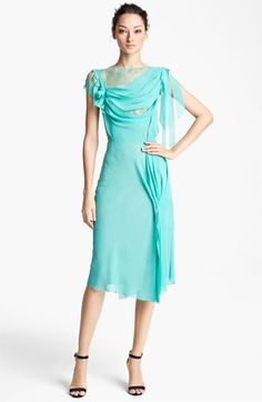 Nina Ricci Drape Front Dress @ Nordstrom. Not huge on the color or the back but I do like the front.
