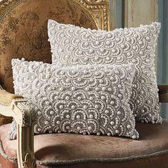 Pearl Decorative Pillow.  art deco christmas