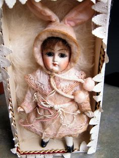 RARE Miniature Bisque Doll Rabbit in Original Box Germany Limbach | eBay
