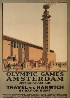 Olympic Games Amsterdam 1928 Vintage Railway door ElysiumPrints