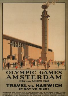 Olympic Games Amsterdam 1928 Vintage Railway door ElysiumPrints