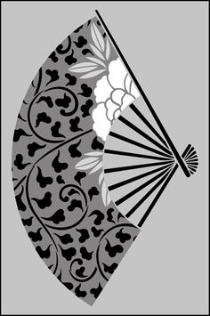Click to see the actual JA38 - Peony Fan No 2 stencil design.