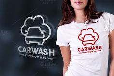 Car Wash Line Logo - Logos