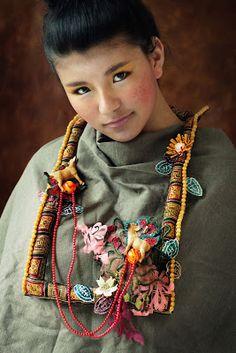 "Little Treasures: Amazing Textile Art Jewelry - ""To Tibet"""