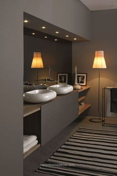 Inspiring Small Bathroom Remodel Designs Ideas on a Budget 2018 small Bathroom remodels and Makeover With Before and After. easy industrial, farmhouse, minimalist etc From Single Sink Vanity to Double Sink Bathroom Remodel. Best Bathroom Designs, Bathroom Design Luxury, Bathroom Ideas, Bath Design, Luxury Bathrooms, Bathrooms Online, Half Bathrooms, Sink Design, Bath Ideas