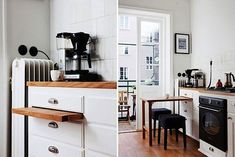 A Pull Out Table from 15 Life-Changing Storage Ideas for the Kitchen