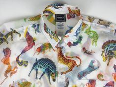Vintage 90's Men's VERSACE JEANS COUTURE Shirt Large Animal Print Long Sleeve Cotton RARE!  DON'T MISS OUT! Purchase from DansThreads on eBay!  #VersaceJeansCouture