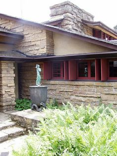 Taliesin. South of Spring Green, Wisconsin. 1911.1914,1925 (remodels after fires). Frank Lloyd Wright's residence and studio