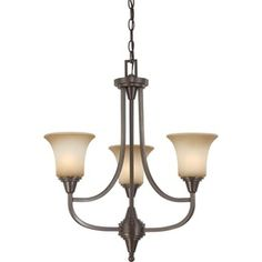 Surrey 3-Light Vintage Bronze Chandelier $258.68 at Lowe's -- looks a little cheesy online
